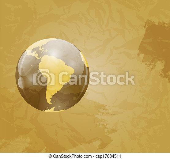 Retro grunge world map vector illustration gumiabroncs Gallery