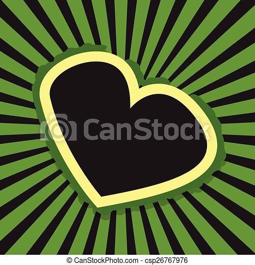 Retro Heart Banner Background - csp26767976