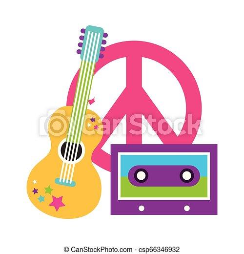 retro hippie style - csp66346932