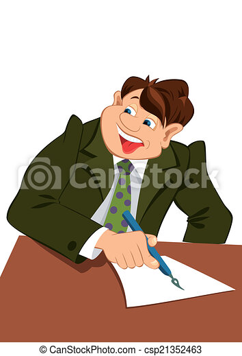 illustration of cartoon male character isolated on white clip rh canstockphoto com Student Writing Clip Art Writing Clip Art of Someone