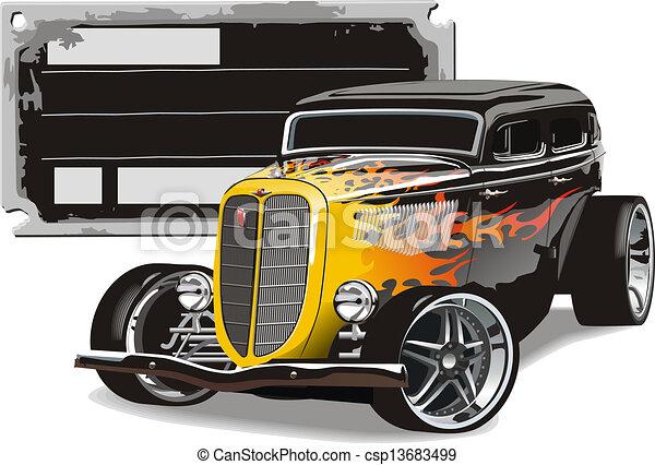 retro hotrod - csp13683499