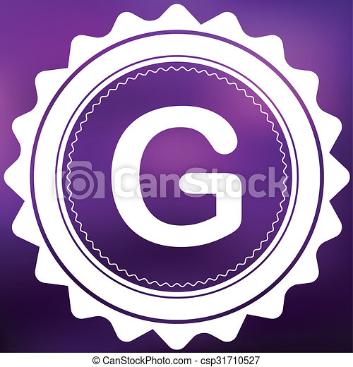 Retro Icon Isolated on a Purple Background - G - csp31710527