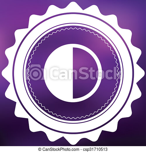 Retro Icon Isolated on a Purple Background - Halftone - csp31710513