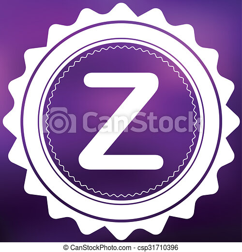 Retro Icon Isolated on a Purple Background - Z - csp31710396
