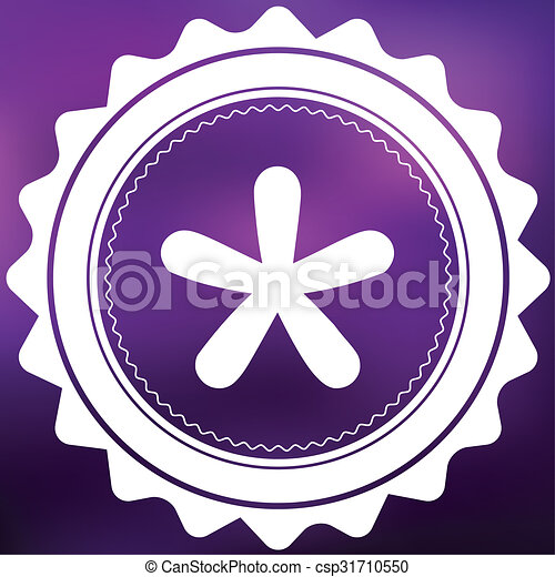 Retro Icon Isolated on a Purple Background - Blobbed Star - csp31710550
