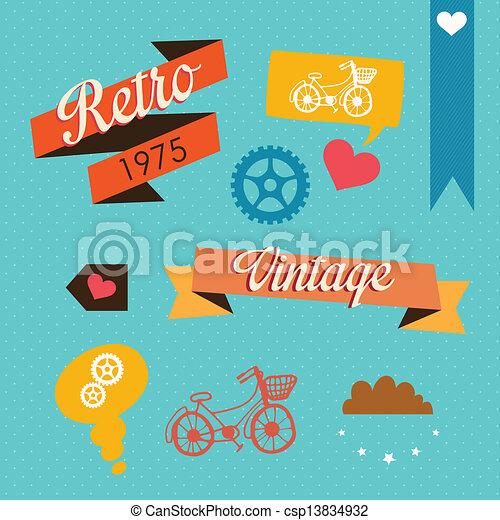 Retro Icons - csp13834932