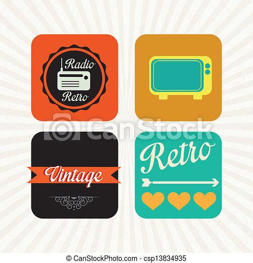 Retro Icons - csp13834935