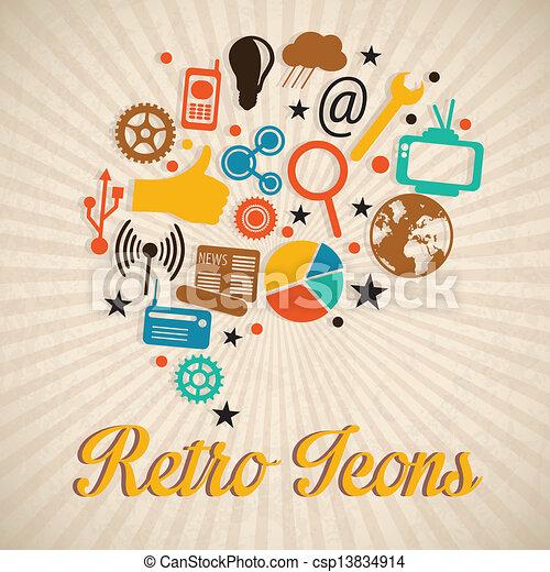 Retro Icons - csp13834914