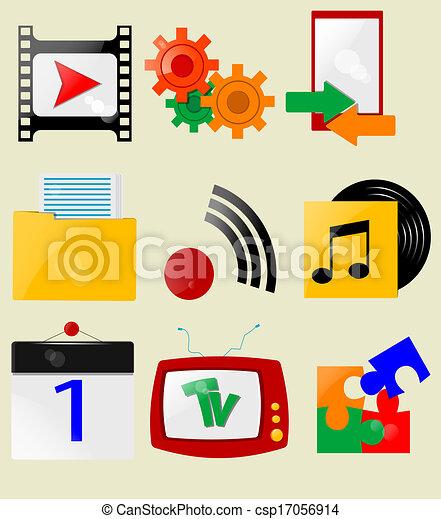 Retro icons - csp17056914