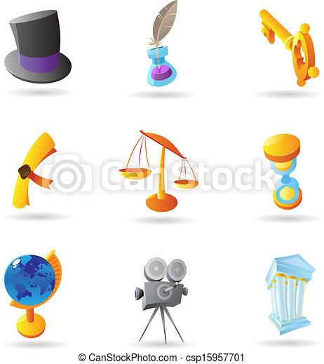 Retro icons - csp15957701