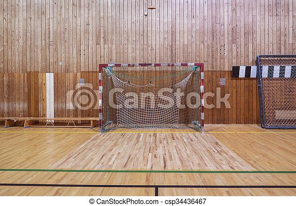 Charming Retro Indoor Soccer Goal   Csp34436467