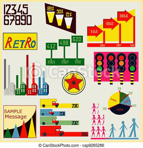 Retro Infographics - csp9265286