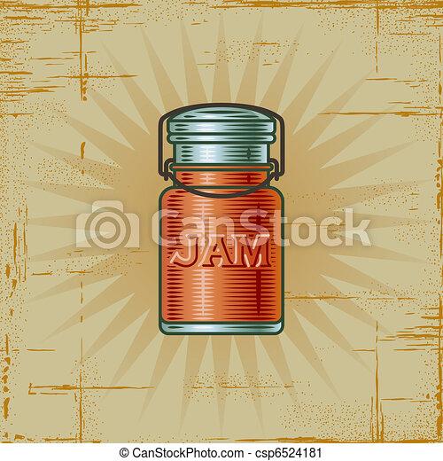 Retro Jam Jar - csp6524181