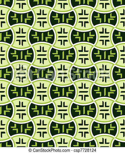 Retro japanese seamless pattern - csp7728124