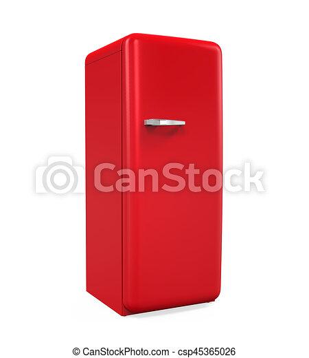 Retro, kühlschrank, freigestellt. Render, freigestellt,... Clipart ...