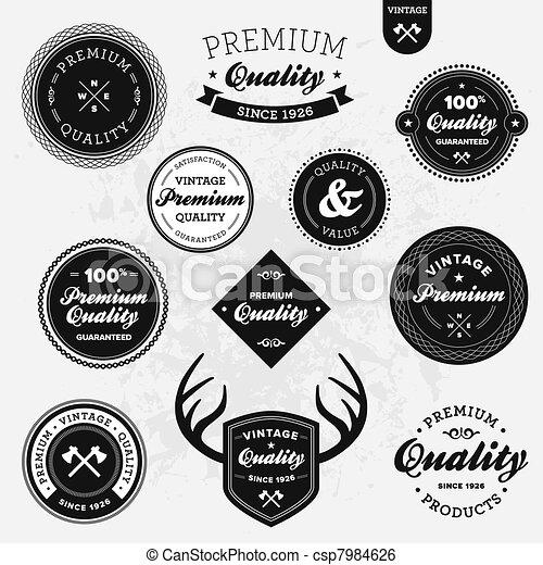 Retro labels - csp7984626