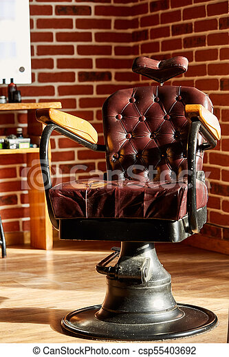 Fine Retro Leather Chair Barber Shop In Vintage Style Barbershop Theme Dailytribune Chair Design For Home Dailytribuneorg