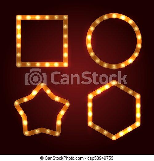 Retro Light Bulb Frames Set - csp53949753