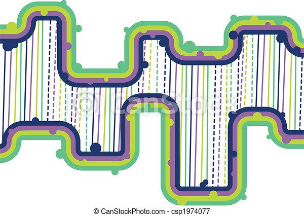Retro Lines - Vector - csp1974077