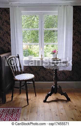 Retro living room - csp17455571