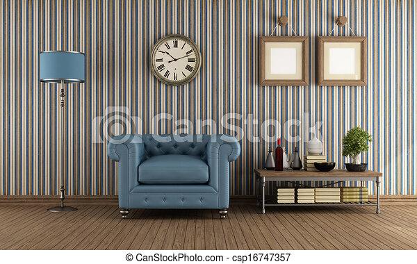 retro living room stock illustrations csp16747357