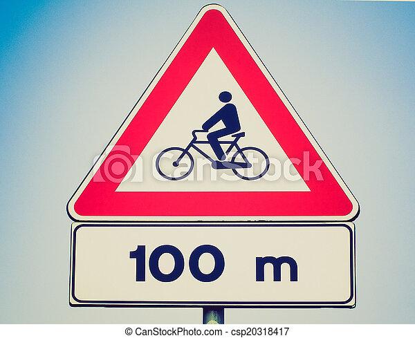 Retro look Bike sign - csp20318417