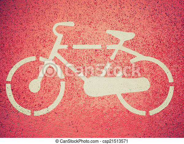 Retro look Bike sign - csp21513571