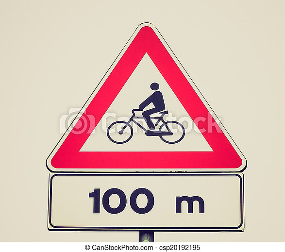 Retro look Bike sign - csp20192195