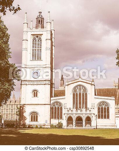 Retro looking St Margaret Church in London - csp30892548