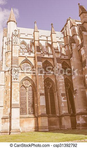Retro looking St Margaret Church in London - csp31392792