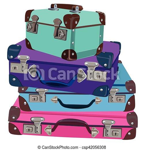 Retro Luggage Vector Illustration