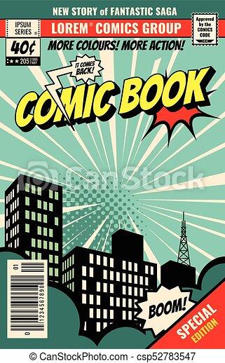 retro magazine cover vintage comic book vector template eps rh canstockphoto com comic book vector art comic book vectors free