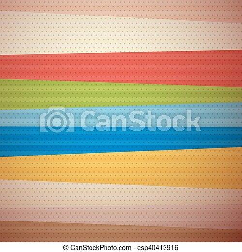 Retro Material Design Background - csp40413916