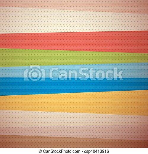 Retro Material Design Background - csp40413916