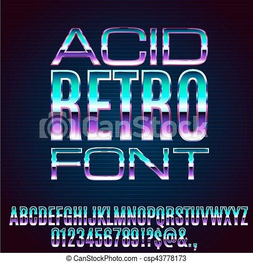 Retro Metal Font