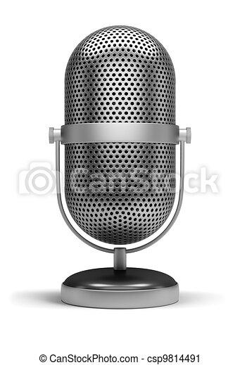 retro microphone - csp9814491