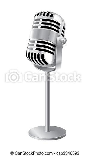 Retro Microphone - csp3346593