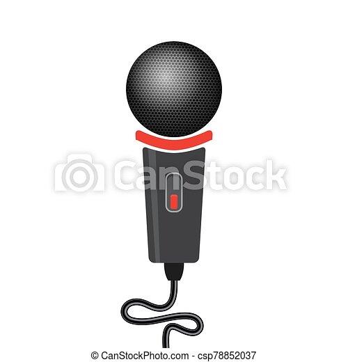 Retro Microphone Icon Isolated on White Background - csp78852037
