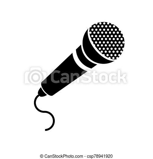 Retro Microphone Icon Isolated on White Background - csp78941920
