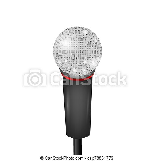 Retro Microphone Icon Isolated on White Background - csp78851773