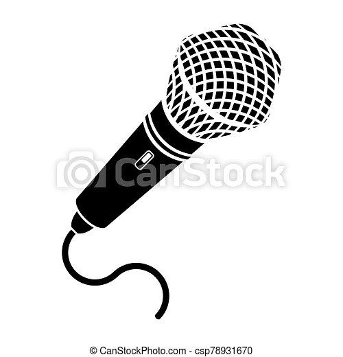 Retro Microphone Icon Isolated on White Background - csp78931670