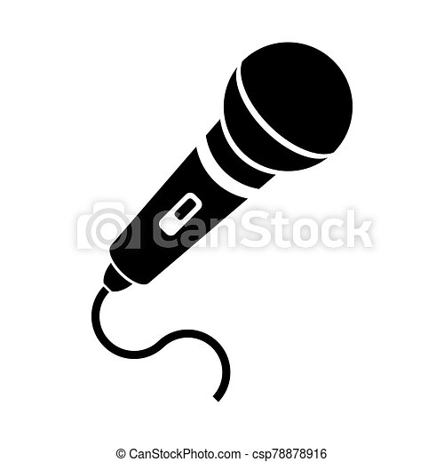 Retro Microphone Icon Isolated on White Background - csp78878916