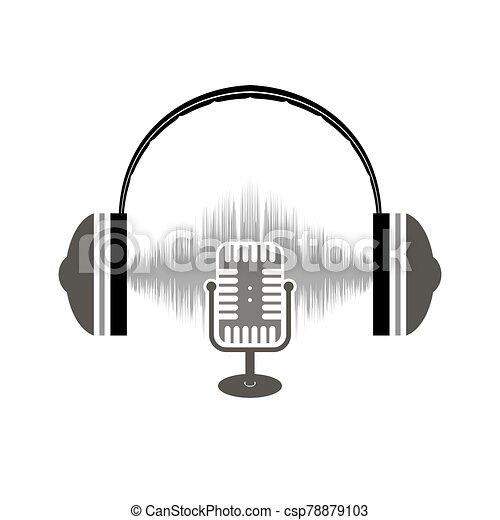 Retro Microphone Icon Isolated on White Background - csp78879103