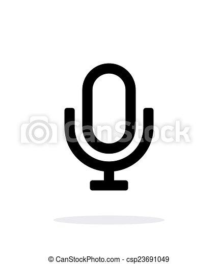 Retro microphone icon on white background. - csp23691049
