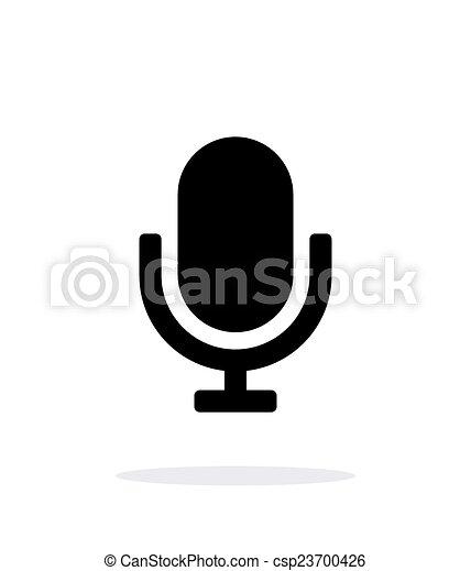 Retro microphone icon on white background. - csp23700426