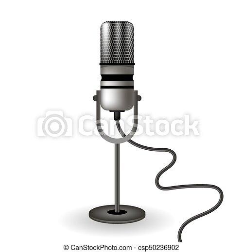 Retro Microphone Icon - csp50236902