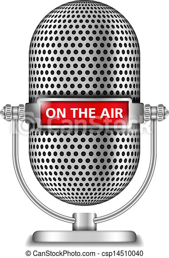 Retro microphone on the air - csp14510040