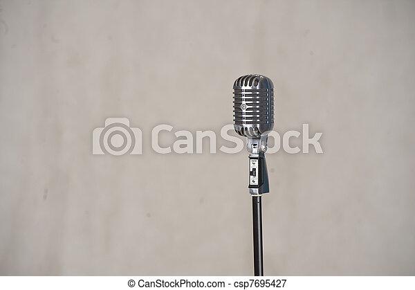Retro microphone - csp7695427