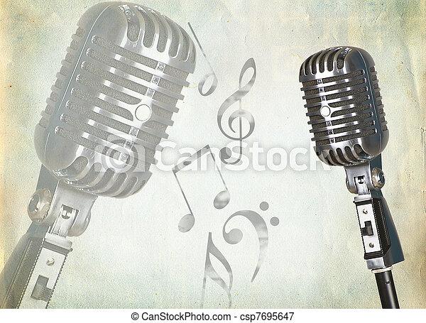 Retro microphone - csp7695647