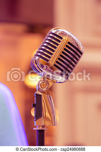 Retro microphone - csp24980688